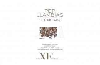 """Madrid XF proyectos. Próxima exposición: PEP LLAMBÍAS """"El peso de la luz"""". 7 de mayo 2016."""