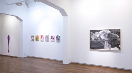 """""""Fábrica de deseos"""". Alberto Borea, Marcos Juncal, Melvin Martínez, Mariu Palacios, Santiago Picatoste, Santiago Villanueva."""