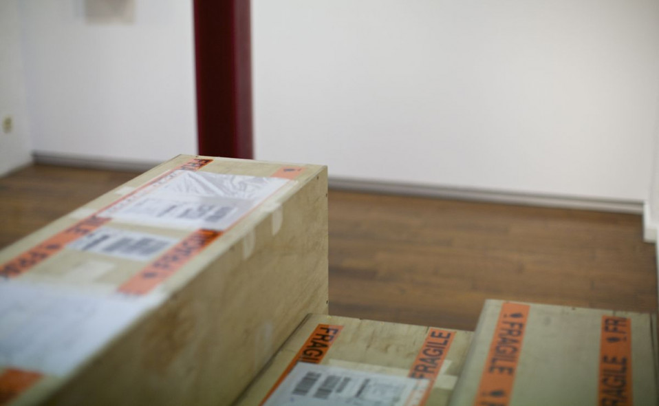 "Montaje de la exposición ""Diàleg sense límits"". Herbert Hamak & Tomislav Nikolic. Inauguración 7/6/2018 20:00h"