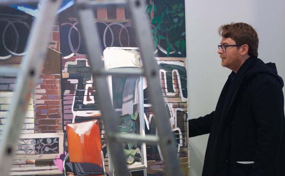 """Montaje de la exposición """"Jardín de ruinas"""" de Tomás Pizá. Inauguración 23 de marzo 11:30h. Art Palma Brunch 2019."""