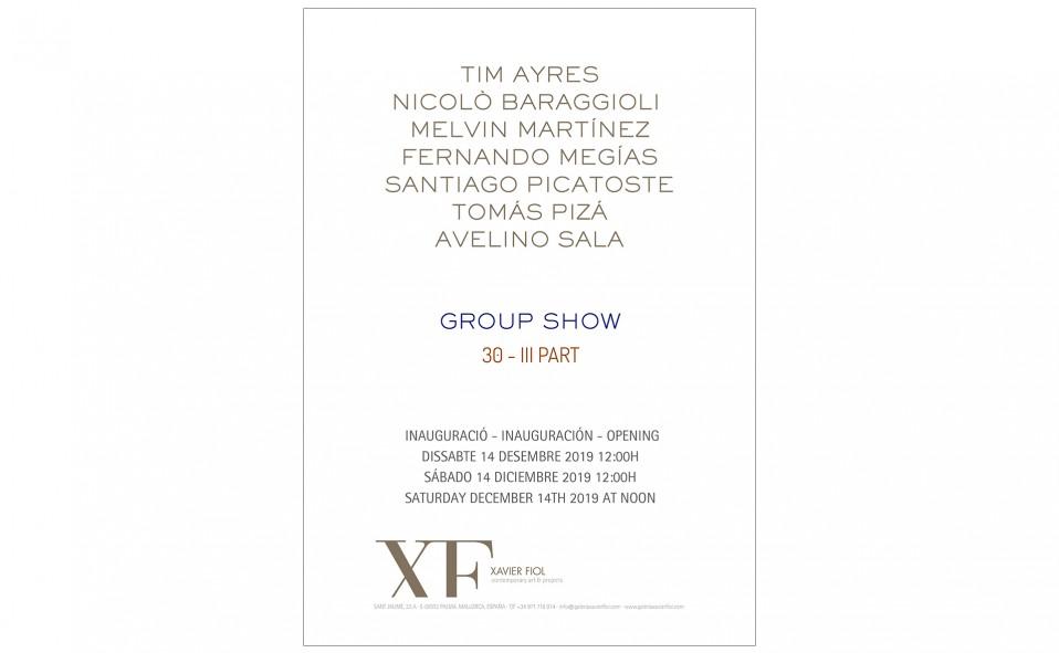 Galería XF próxima exposición: GROUP SHOW 30 III PART Inauguración sábado 14 diciembre 2019 a las 12:00h.