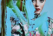 MAGAZINE COVER  30 x 23 cm óleo sobre portada de magazine.