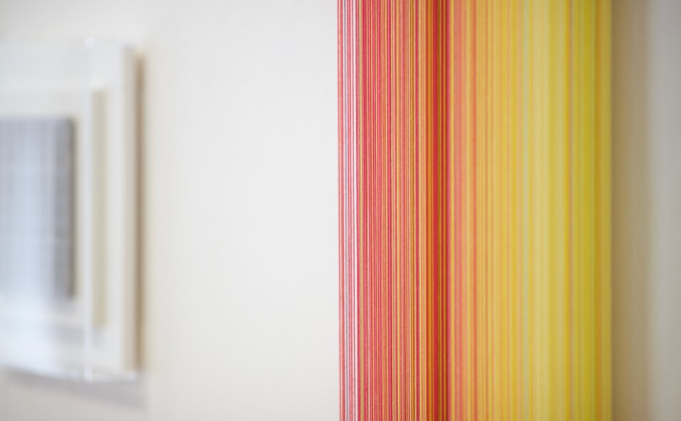 """Montaje de la exposición: """"COLOR"""" Nicolò Baraggioli · Ivan de Menis · Mathijs Siemens Art Palma Summer"""