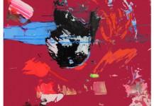 2.ATLAS (deep-red) 72x52cm. Mixta sobre metacrilato.