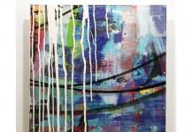 CRYSTALLIZED 65 x 65 cm.mixta sobre metacrilato