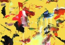 ATLAS (Yellow). Mixta sobre metacrilato. 150 x 100 cms. 2012.