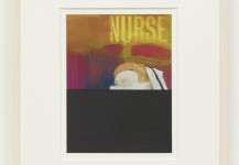 Millionaire Nurse. Paintstick on printed paper. 2011